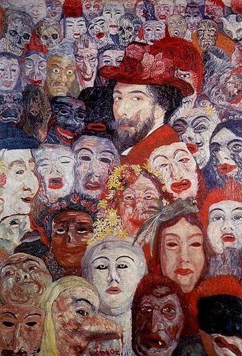 James Ensor-Portrait of the Artist Surrounded by Masks, 1899  Discover the coolest shows in New York at www.artexperience..
