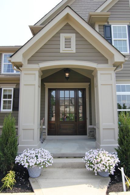Trim behr garden wall siding behr toasted walnut shakes behr mocha accent shutters for Behr exterior white paint colors