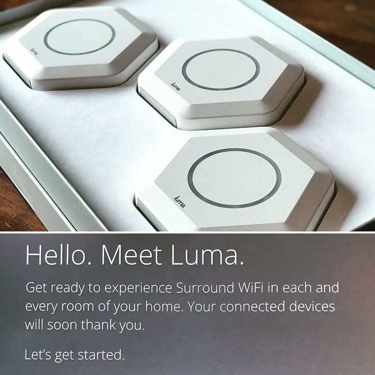 Meet Luma. Get ready to experience Surround WiFi in each room of your home. Your connected devices will soon thank you.  Wired or wireless mesh cloud 9 av can help you improve wifi. Part of our whole home systems solutions Luma WiFi eliminates dead spots.  #lumawifi #smarthome #homeautomation  #surroundwifi #cloud9av #c9av #wireless #networking #lumapro #wholehomewifi