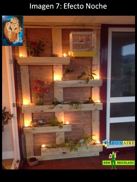 Pared jardinera palet buscar con google comuniones for Macetero vertical pallet