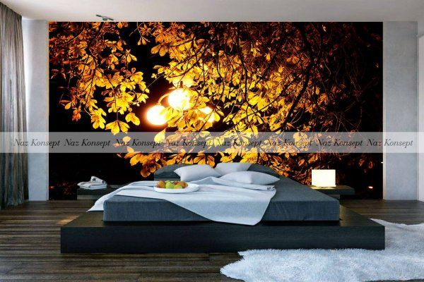 3D  Yatak Odası Duvar Kağıdı 03