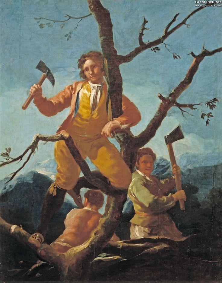 GOYA. Los leñadores/The Woodcutters 1777 - 1780. Óleo sobre lienzo, 141 x 114 cm.