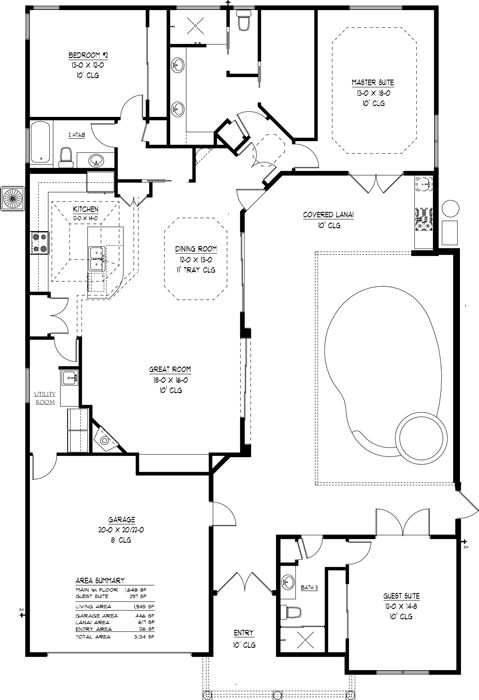 House with a pool plans