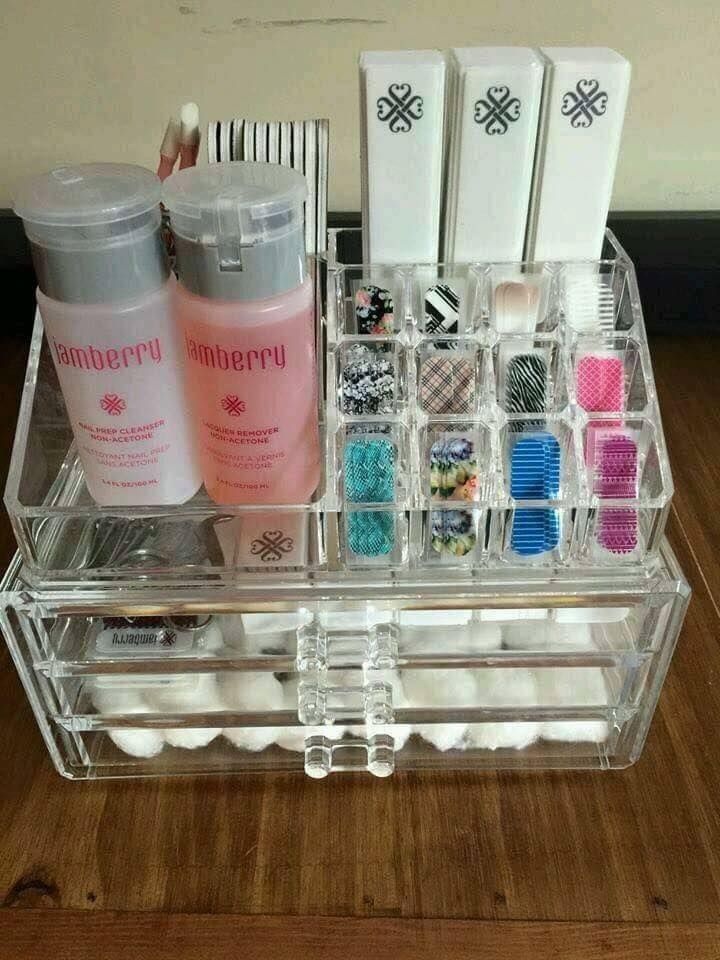 Organize your Jamberry products for your parties, vendor displays, or at home…