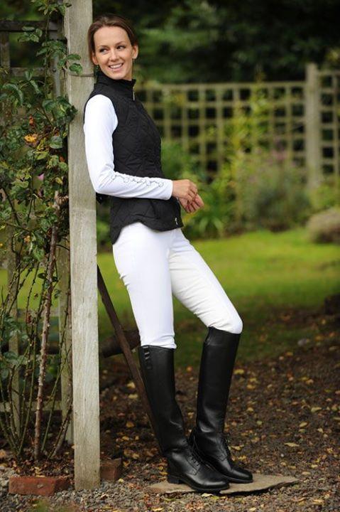Equestrienne Reiterinnen Ladies In Boots Reitstiefel