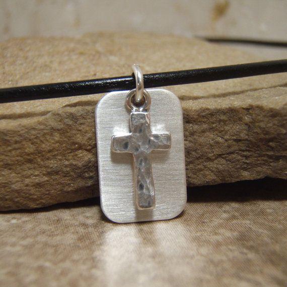 Boy's cross necklace Boy's first communion by filigreepheasant, $28.00