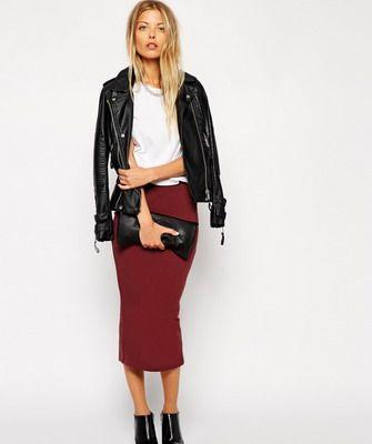 С чем носить трикотажные юбки: фото, с чем носить юбку-карандаш, юбку-миди и другие модели