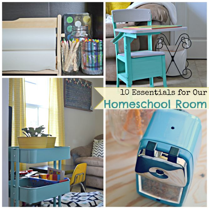 Minimalist Homeschool Room: Essentials For Our Homeschool Room