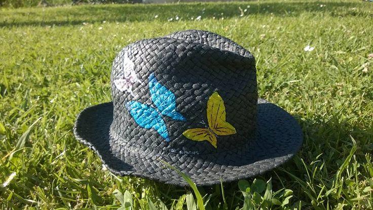 Borsalino con farfalle