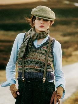 Fyne fair-isle vest, by marie Wallin for Rowan Yarns.