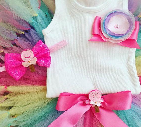 Tutus for Baby Girls Candyland Birthday Dress by StrawberrieRose