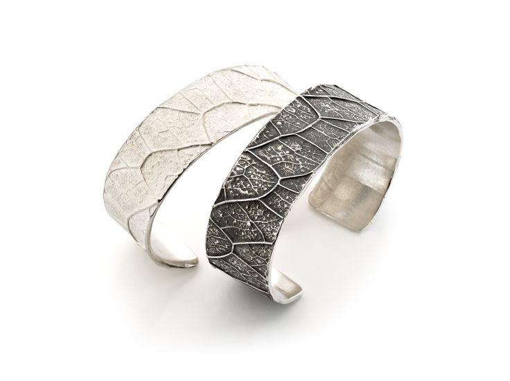 zilveren armbanden, wit zilver en zwart, geoxydeerd zilver