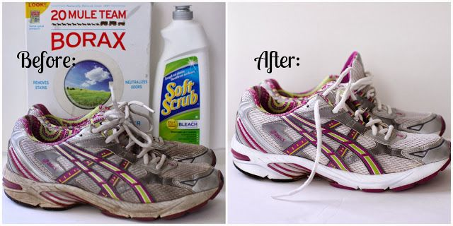 How to clean your old athletic shoes {DIY}