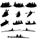 canoa : remo siluetas colección