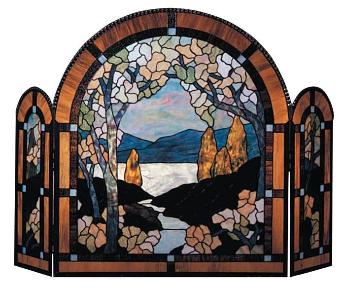 Well-liked 72 best Stained Glass Fireplace Screens images on Pinterest  SA66