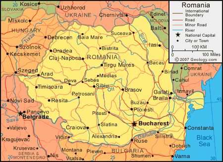 deva romania | Romania Map - Romania Satellite Image - Physical - Political