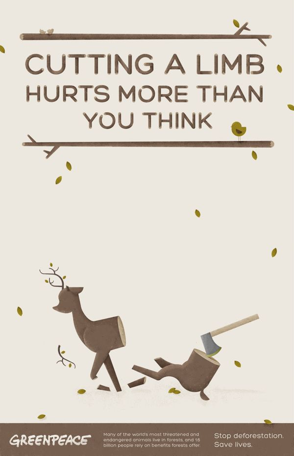 deforestation poster design pinterest behance deer