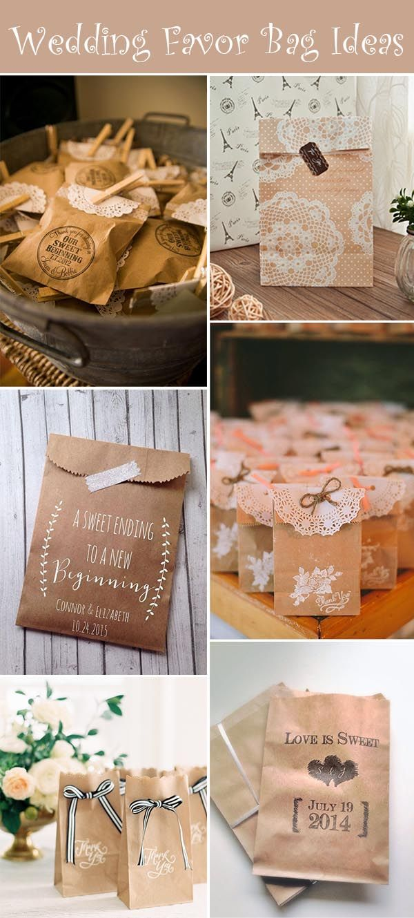 50 Awesome Wedding Favor Bag Ideas to Make Your Wedding Gifts More Attractive