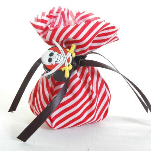 Pirate Fabric Party BAG Filled With Chocolate Coins Gift TAG | eBay