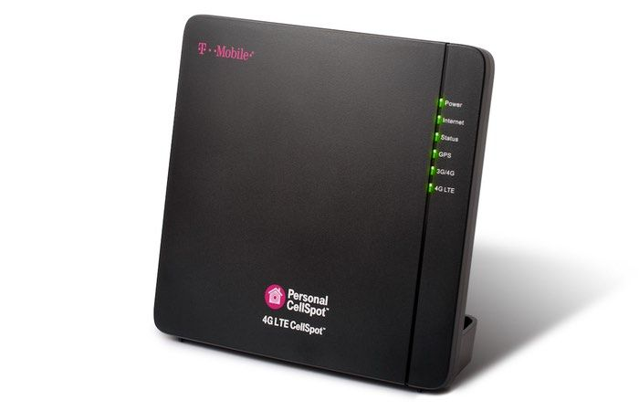 """T-Mobile 4G LTE CellSpot Hotspot Unveiled For Personal Coverage At Home And Business - The T-Mobile 4G LTE CellSpot measures just 8.5"""" wide by 8.5"""" tall and is just 1.3"""" thick, so it fits just about anywhere. And it's fully 'plug-n-play.' Just hook it up to the Internet, plug it into the wall and boom! You've got a clear, strong LTE signal covering 3,000 sq. feet on average. 