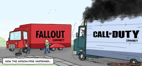 True story FollowKarma Only Exists in Fallouton Facebook for more Fallout Comics! ;) fallout fallout comics fallout community fallout fans cod community call of duty