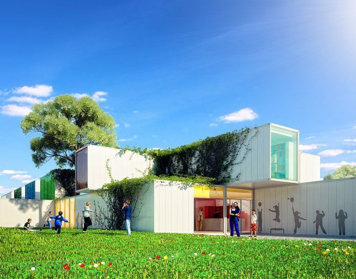 Touax, Projekt konkursowy na przedszkole modułowe