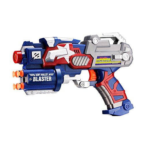 Big League Blaster Gun with Foam Darts and Dartboard