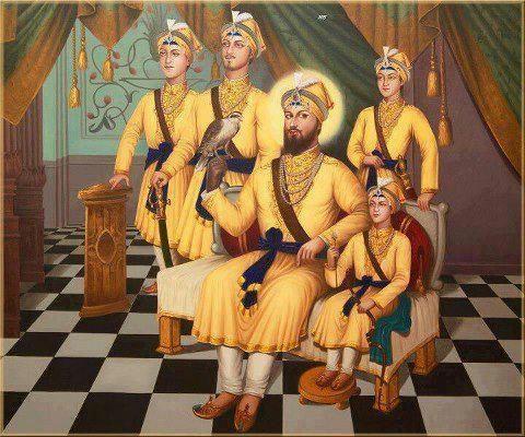 Guru Gobind Singh ji with Sons