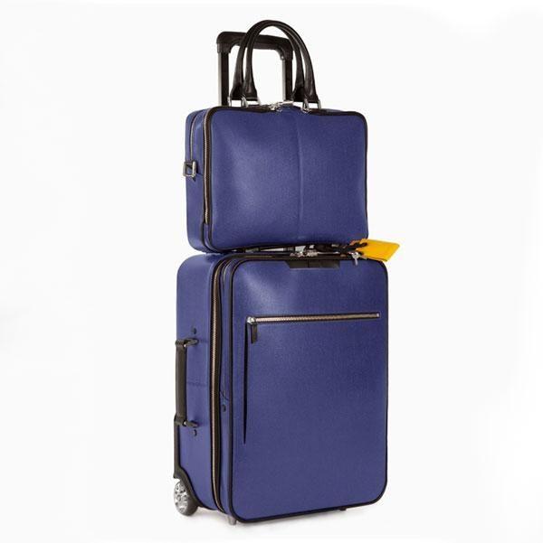 WANT Les Essentiels de la Vie leather laptop bag and carry-on suitcase