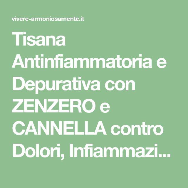 Tisana Antinfiammatoria e Depurativa con ZENZERO e CANNELLA contro Dolori, Infiammazioni e Gonfiore