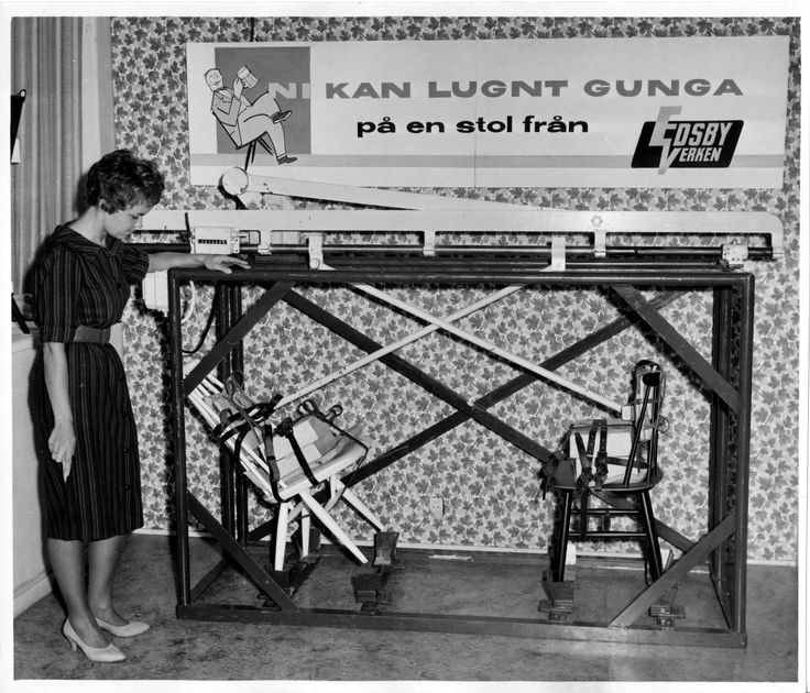 The chairs Fanett and Mademoiselle is being tested at the famous departement store NK in Stockholm, 1959. #edsbynclassic #edsbyn #edsbyverken #mademoiselle #fanett #chair #design #vintage #1950 #1960