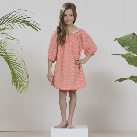 Mia dress in peach -for my girl