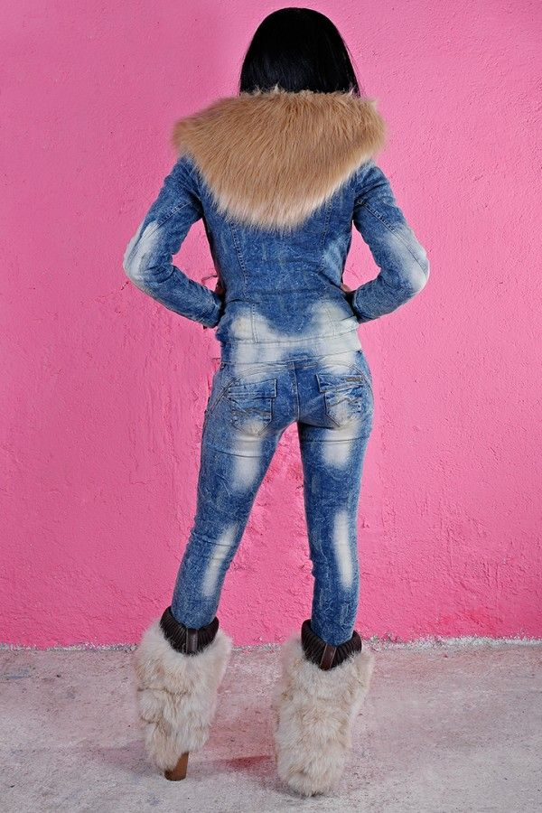 £: Jeans push-up - ricami sulla tasca floreali - DENIM & LOOK SPORTIVO - Abbigliamento » Moda Mania