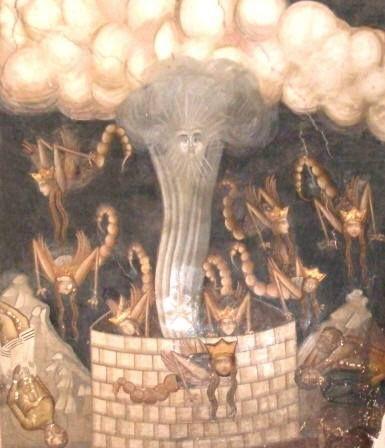 Από τις παραστάσεις της Αποκαλύψεως στη στοά της τράπεζας (16ος αι., Ιερά Μονή Διονυσίου, Άγιο Όρος) - Detail of the Revelation in the entrance to the refectory (16th cent., Holy Monastery of Dionysiou, Mount Athos)