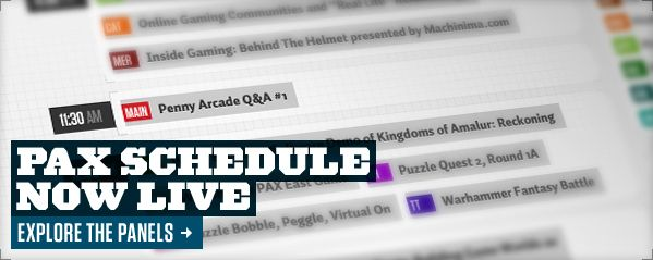 PAX Schedule Now Live - Explore the Panels