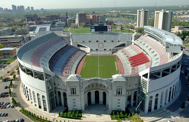 Ohio Stadium, The Ohio State University. Columbus, OH. The 'Shoe
