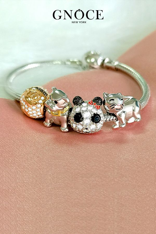 Sterling Silver Hot Diamonds Doggy Bag Charm