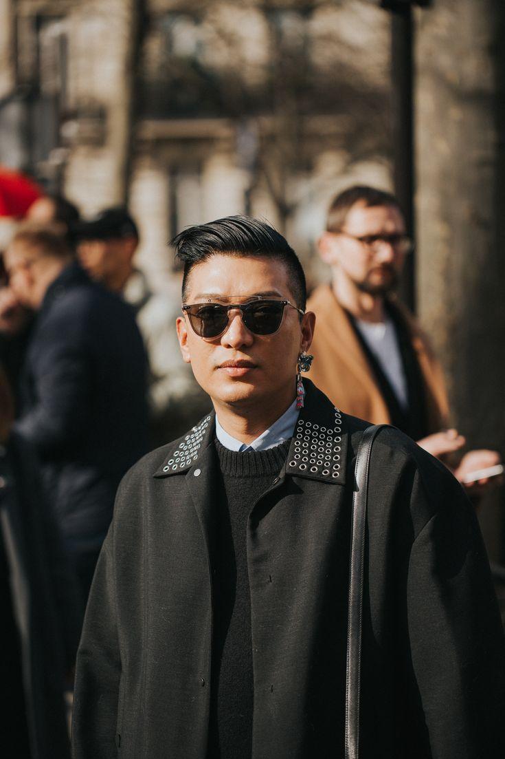 Influencer & Original Blogger Bryanboy outside the Miu Miu show