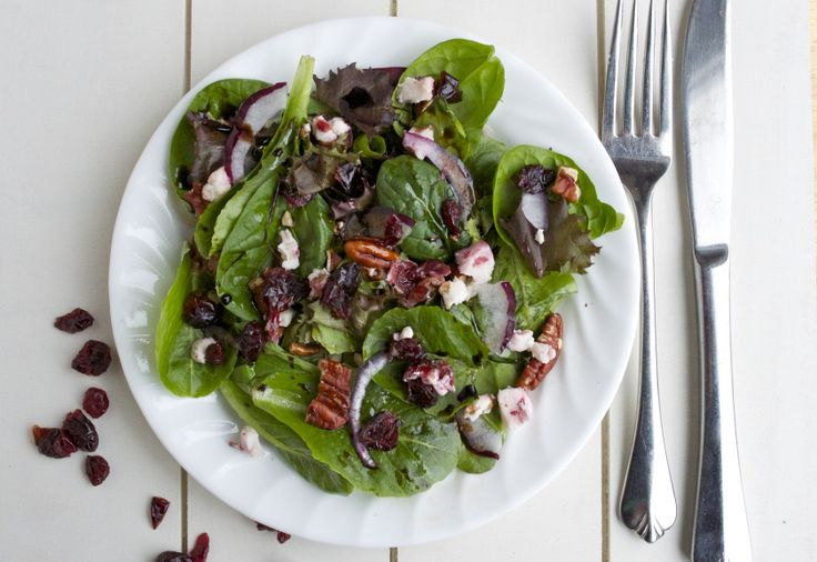 Cranberry Goat Cheese and Pecan salad
