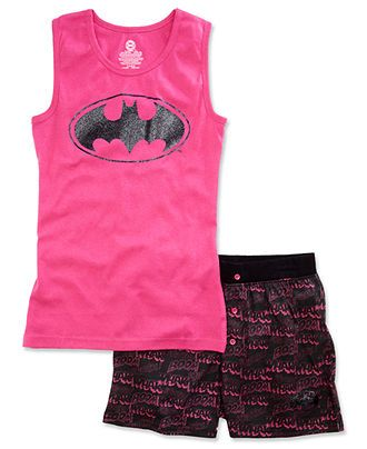 DC Comics Kids Pajamas, Girls or Little Girls Batgirl 2-Piece PJs - Kids Girls 7-16 - Macy's