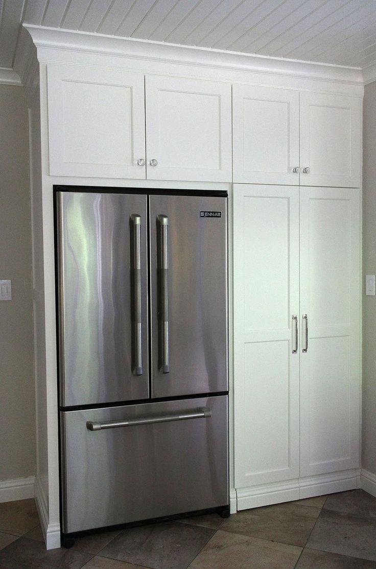 Best 65 Built In Kitchen Pantry Around Refrigerator With 400 x 300