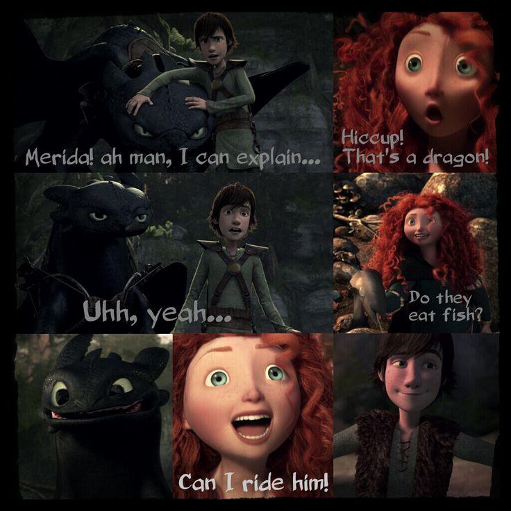 Merida Meets Toothless by 1JoyDreamer.deviantart.com on @deviantART
