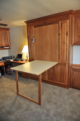 bed desk craft cabinet murphy kitchen table kit combo canada