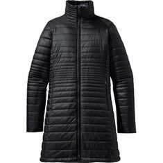Patagonia Kai Lee Parka Black LARGE, $199.  I tried this on on liked it -- good for river trips and dog walking with synthetic insulation.  NEEDS A PHONE/CHEST POCKET!