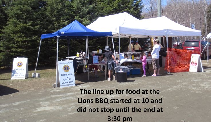Lions provided the BBQ for the Haliburton Highlands Outdoor Association Fish Hatchery fundraiser