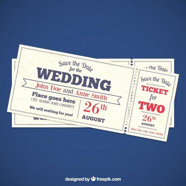 Ticket Wedding Invitations Template Awesome Wedding Invitation Tickets Vector In 2020 Ticket Wedding Invitations Movie Ticket Wedding Invitations Ticket Invitation