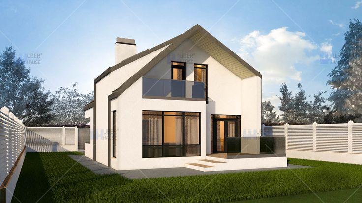 Proiect casa parter + mansarda (100 mp) - Anais. Mai multe detalii gasiti aici: https://www.uberhause.ro/proiect-casa-parter-mansarda-100-mp-anais