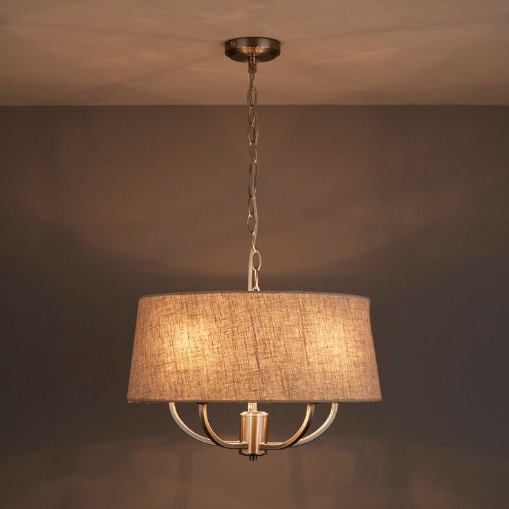 Hampstead Natural Linen Effect 5 Lamp Ceiling Light | Departments | DIY at B&Q