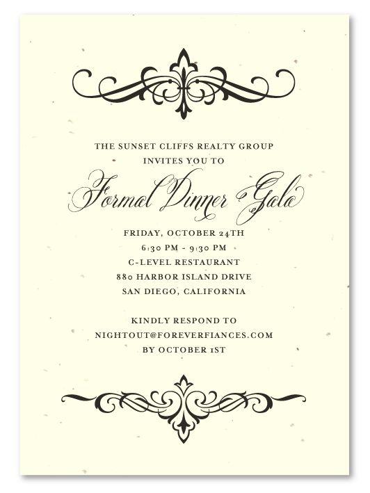 Formal Dinner Invitation Template purplemoon - formal dinner invitation sample
