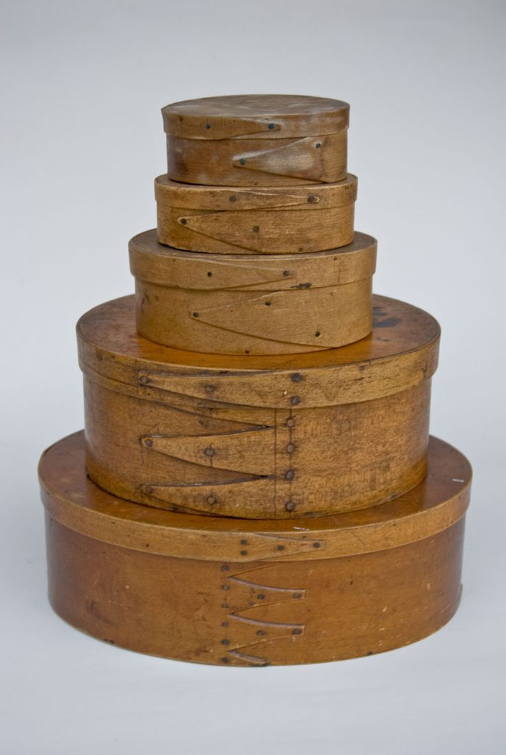 Antique Shaker bent wood pantry boxes. ( The Rubbermade and Tupper Ware of yesterday ! )